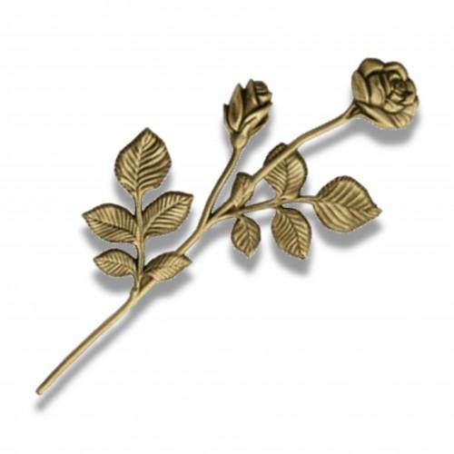 Applicazione 133 rosa mm 170 x 390 oro lucido