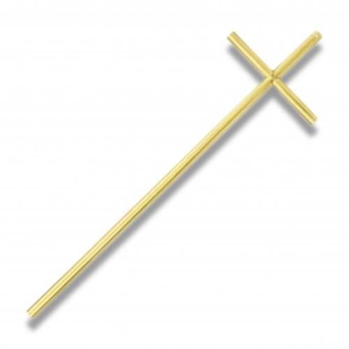Croce 144 mm 170 x 550 oro lucido