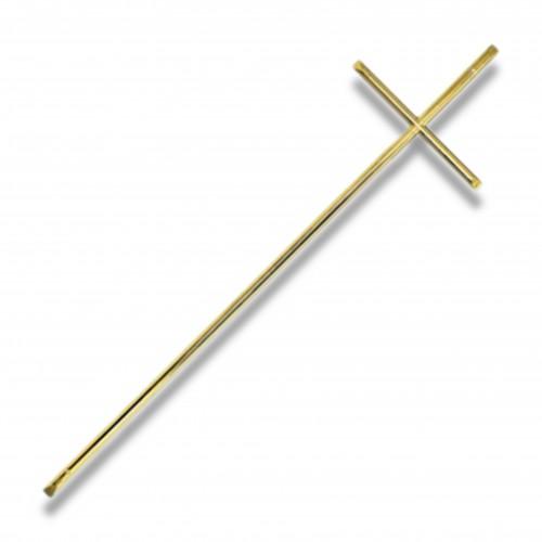 Croce 145 mm 155 x 565 ottone spazzolato