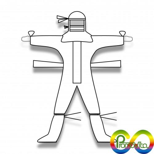 DPI kit cleanroom sterile: tuta/scafandro/calzare cs codici 1850 + 01975 + 1864 + 01819