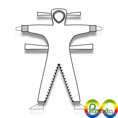 DPI 1 tuta promovita cavallo termocucita biodegradabile mater-bi xs/s/m/l/xl/xxl/xxxl DPI 1^ categoria