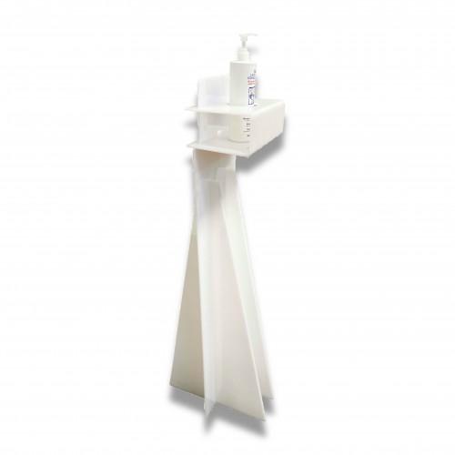 Sanificazione: gel igienizzante colonna dispenser plexiglass