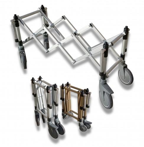 Fisarmonica alluminio argento ruota Ø mm 200 soft con sistema antishock