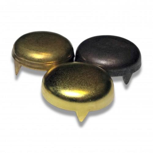 Vite: coprivite 3 punte liscio ottone lucido cf pz 100