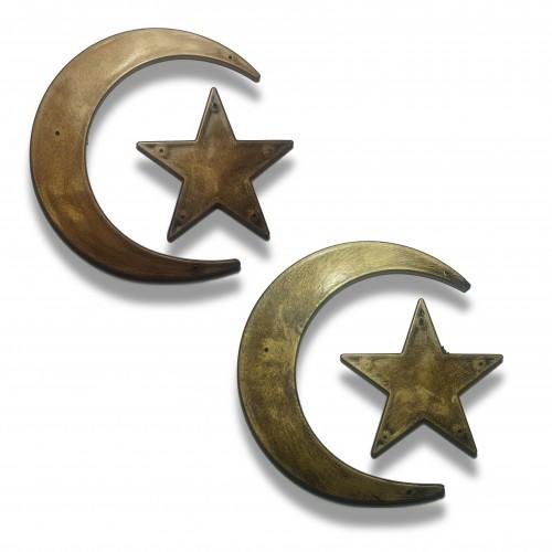 Simbolo: mezza luna mm 140 x 140 oro/ottonata/ramata