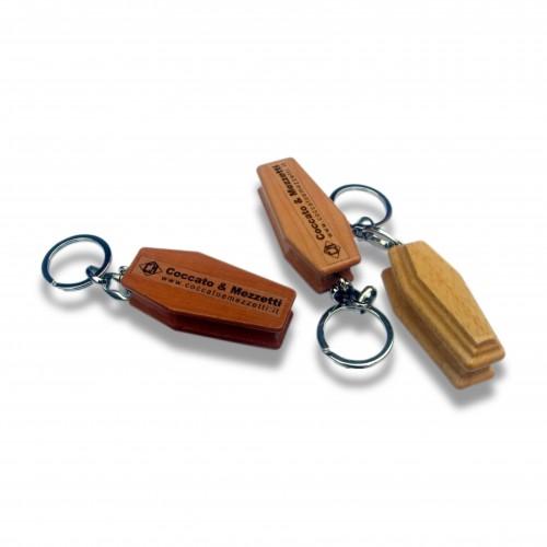 Gadget: porta chiavi F2 legno bara cm 5 non personalizzato