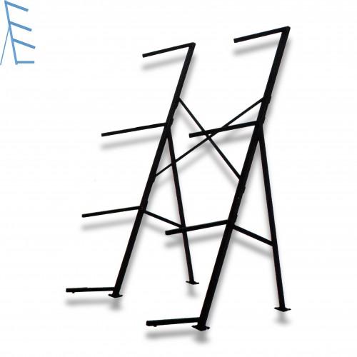 Portacasse 4 piani senza ruote inclinato ferro verniciato