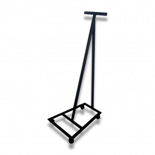 Portacasse verticale salva spazio con ruote ferro verniciato