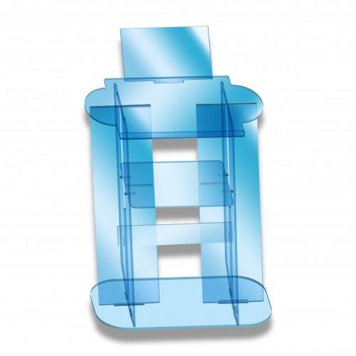 Leggio plexiglass totem cm 100 + 21 trasparente smontabile
