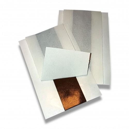 Targa: etichetta biadesiva mm 15 x 60 x 1,5 pellicola su due lati