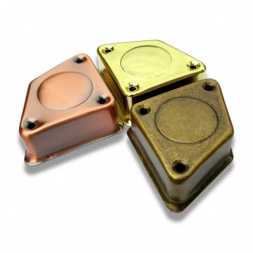 Piede cofano 5100 ottonato metallo