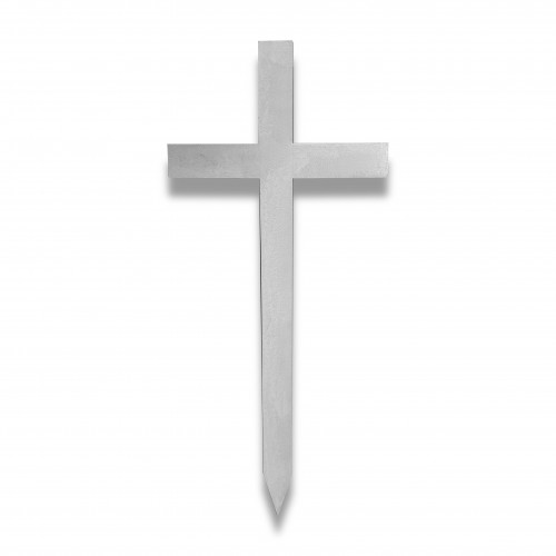Croce cimitero legno liscia bianca cm 139 x 59 x 9 x 2