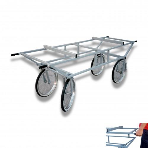 Carrello feretro con barella ruota Ø mm 600 pneumatica