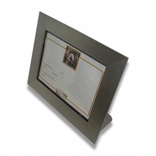 Cornice appoggio alluminio oro/argento luce cm 17 x 24