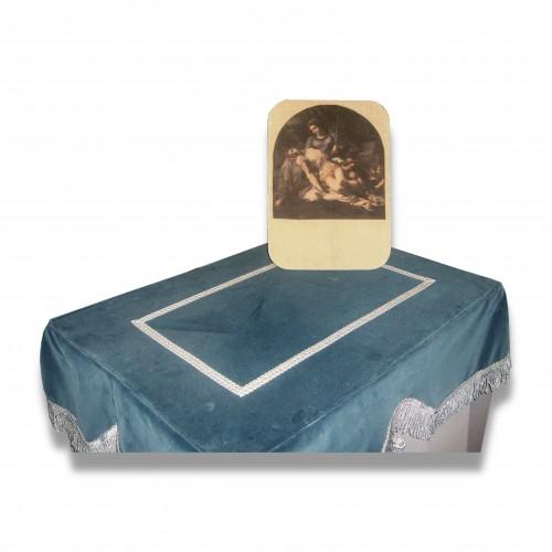 Personalizzazione dipinto tavolo: pannello velluto