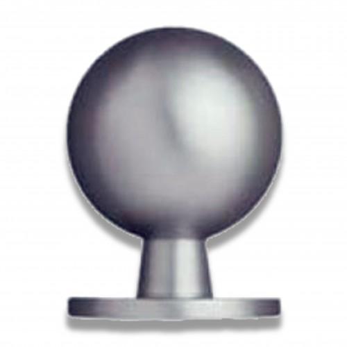 Tubo tondo: pomello ottone tornito cromo lucido