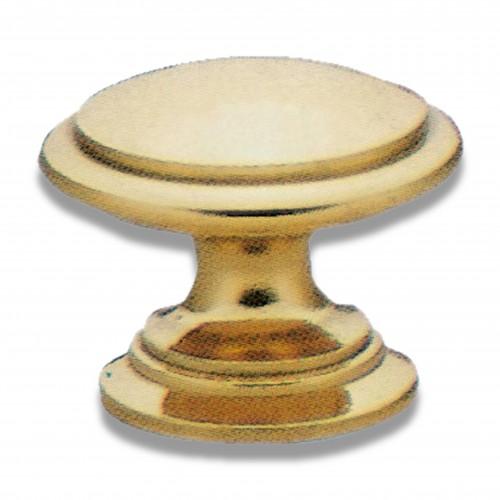 Tubo tondo: pomello ottone tornito oro lucido
