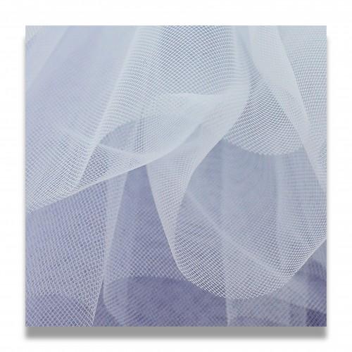 Tessuto tulle poliestere cm 100 bianco 20 denari
