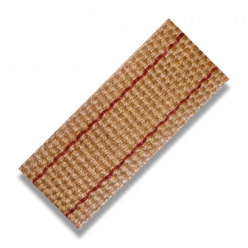 Nastro juta naturale g/mt 66 cm 5 riga rossa biodegradabile