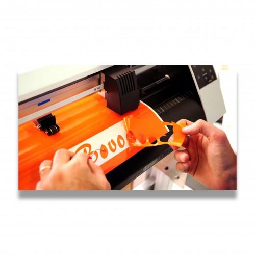 Personalizzazione plotter taglio: adesivo da cm2 10 a 30 monocromatico