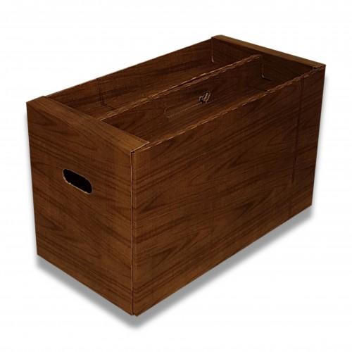 Cofanetto cellulosa stampa legno cm 30 x 60 x 36 biodegradabile