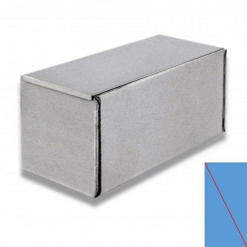 Ossario lamiera zincata diritto cm 60 x 26,5 x 28 h con divisorio diagonale