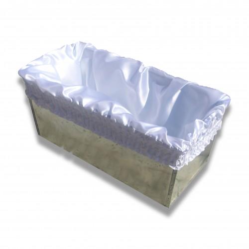 Ossario: sacco raso interno arricciato/coulisse bianco/champagne/grigio perla