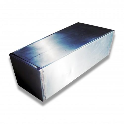 Cassa legno: zinco diritto cm 69 x 34 x 25 h