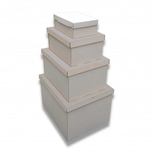 Cofanetto cellulosa bianco cm 35 x 47 x 24 biodegradabile