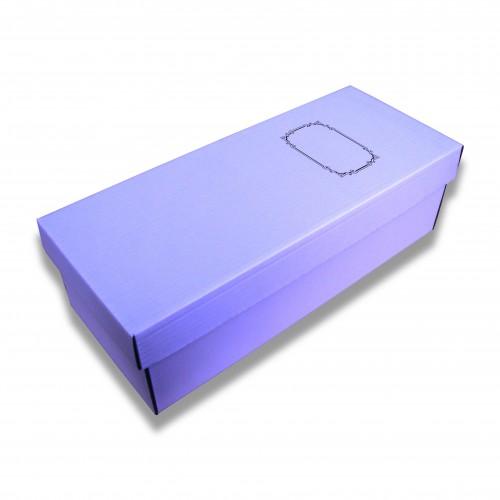Cofanetto cellulosa bianco cm 28 x 36 x 15 biodegradabile (6 spinotti chiusura opzionali)