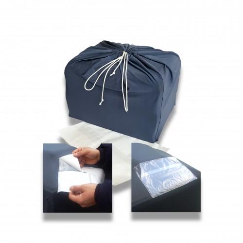 Sacco aereo urna ceneri con busta porta documenti adesiva