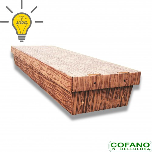 Cofano cellulosa std stampa legno portata kg 80 cm 61 x 26 x 185 biodegradabile