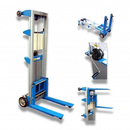 Elevatore manuale alluminio CE elevazione max mt 3,10