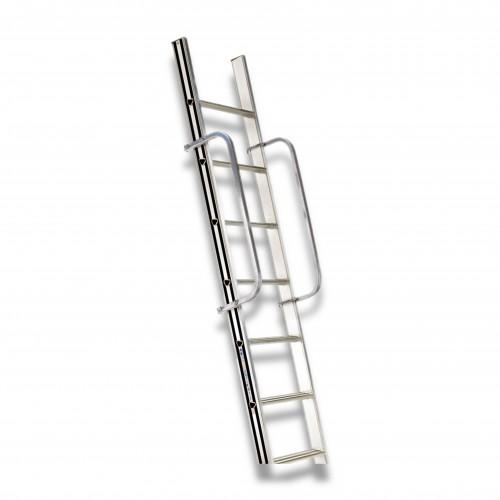 Scala alluminio appoggio: coppia corrimani opzionali