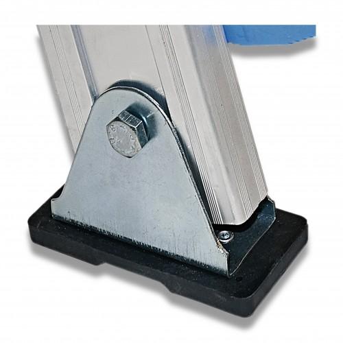 Scala alluminio appoggio: coppia zoccolini snodati opzionale