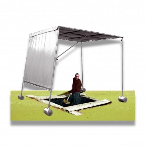 Coprifossa telaio con tenda pieghevole e smontabile