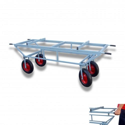 Carrello feretro con barella ruota Ø mm 350 pneumatica