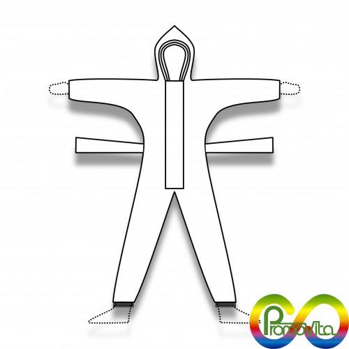 DPI 1 tuta promovita termocucita biodegradabile mater-bi xs/s/m/l/xl/xxl/xxxl DPI 1^ categoria