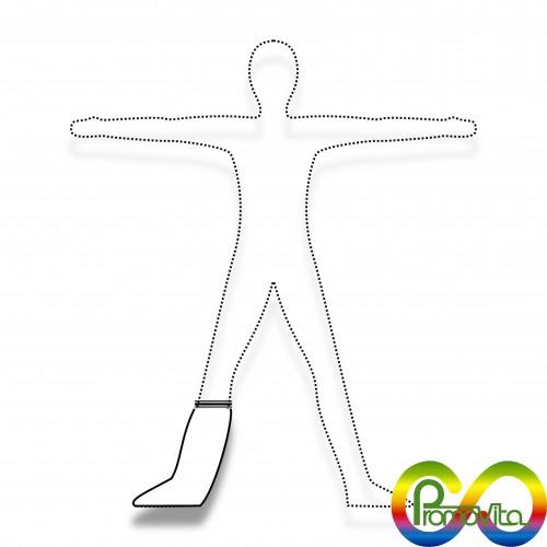 DPI 1 calzare promovita alto senza suola biodegradabile mater-bi DPI 1^ categoria