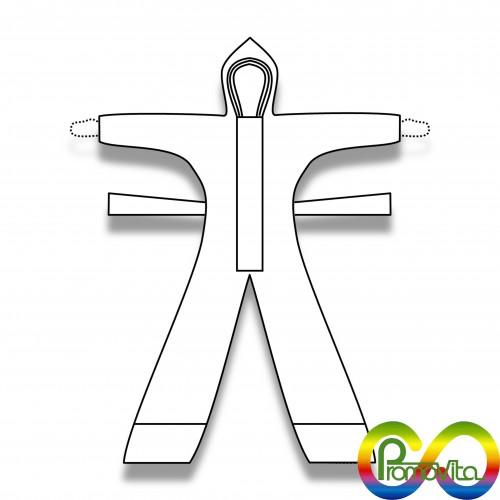 DPI 3 tuta promovita calzari (non disponibile) termocucita biodegradabile mater-bi xs/s/m/l/xl/xxl/xxxl DPI 3^ categoria