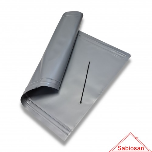 Ceneri: sacchetto sabiosan pvc µm 200 cm 30 x 50 con fascetta nylon
