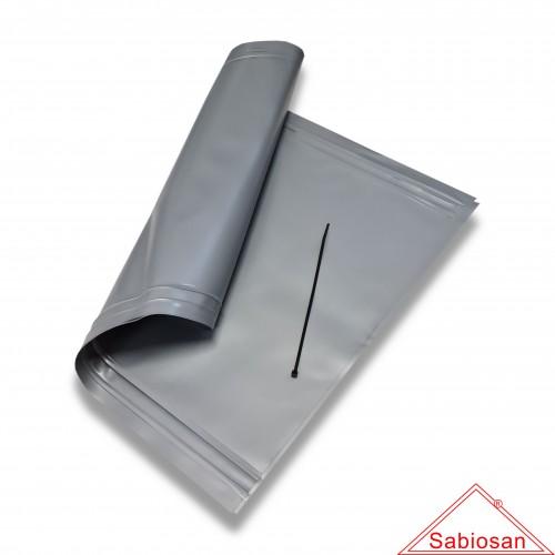 Ceneri: sacchetto sabiosan pvc µm 200 cm 15 x 45 con cordino sfuso
