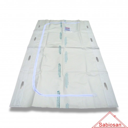 Sacco recupero salme bio sabiosan top libro 8 maniglie cm 225 x 110 biodegradabile mater-bi