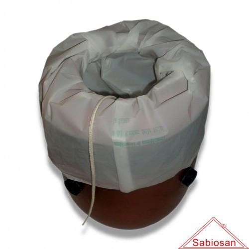 Ceneri: sacchetto sabiosan mater-bi µm 40 cm 50 x 70 con cordino sfuso biodegradabile