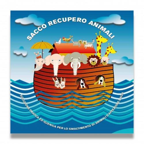 Sacco recupero animali sabiosan libro cm 60 x 50 biodegradabile mater-bi