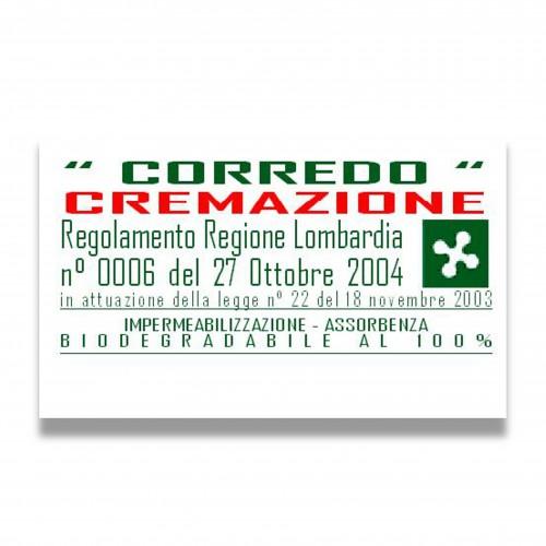 Presidio corredo cremazione 11 telo protettivo sabiosan 1580 + feltrone 1012 biodegradabile mater-bi