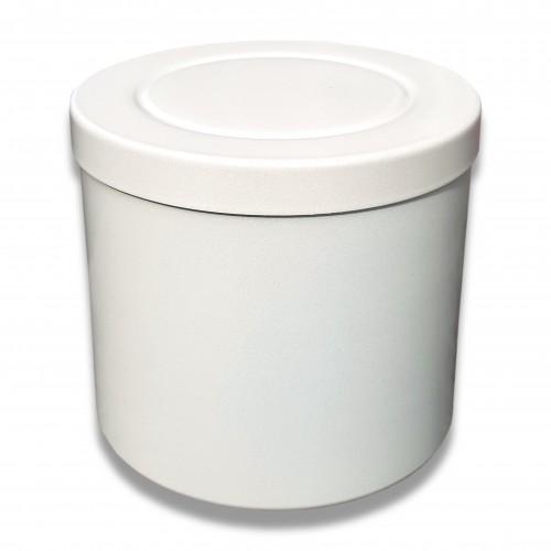 Ceneri urna alluminio cl bianca Ø cm 14 x 12 h
