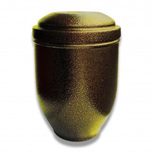 Ceneri urna alluminio sr ottone Ø cm 16,5 x 24 h con custodia cellulosa