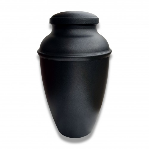 Ceneri urna alluminio an antracite Ø cm 17 x 29 h con custodia cellulosa