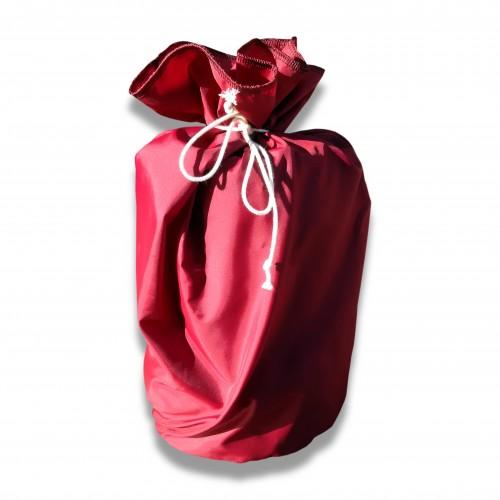 Ceneri: raso sacchetto semplice bordeaux